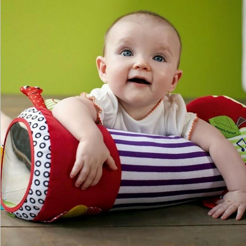 42cm Newborn Baby Multifunction Crawling Roller Toddler Toys Fitness Sport Soft Squishy Stuffed Plush Toys Music Teether Bibi
