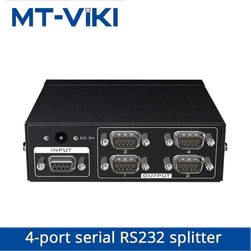 MT viki RS232 splitter 4 Port DB9 Serial Splitter 1 in 4 out Support Bidirectional Transmission