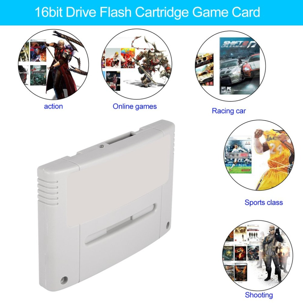 Onleny 16 bit Super Ever Flash Game Drive Flash Cartridge Video Game Console Game Flash Card Plug & Play for SFC/SNES цена