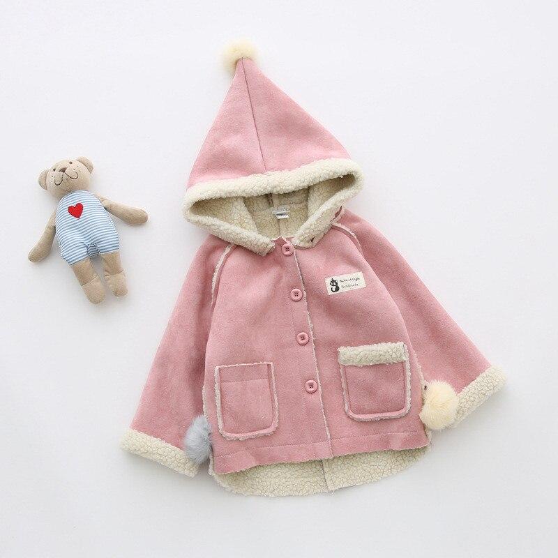 bibicola children girls wool outerwear christmas clothes for kids jackets child fur hoodies thicken fleece velvet childrens coat - Christmas Jackets