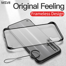 Msvii Frameless Case For Huawei Honor 20 Matte Frosted Back Cover Pro Transparent Fundas Shockproof Bumper
