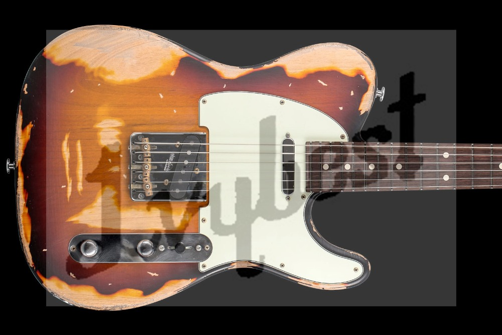 customized body shape and headstock shape 6 string electric guitar relic effect hh pickups alder. Black Bedroom Furniture Sets. Home Design Ideas