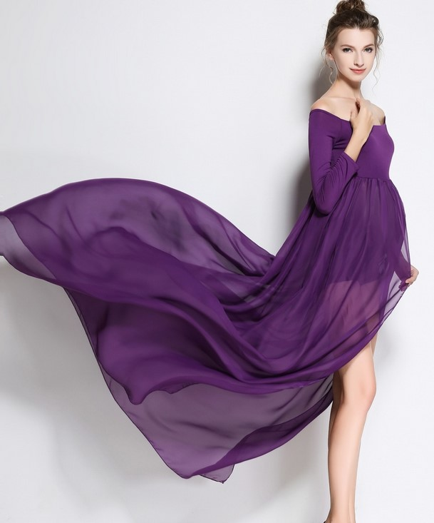 white Maternity Photography Props Pregnant Dresses Maternity photography Dress Chiffon Pregnancy Clothes For photography Pros