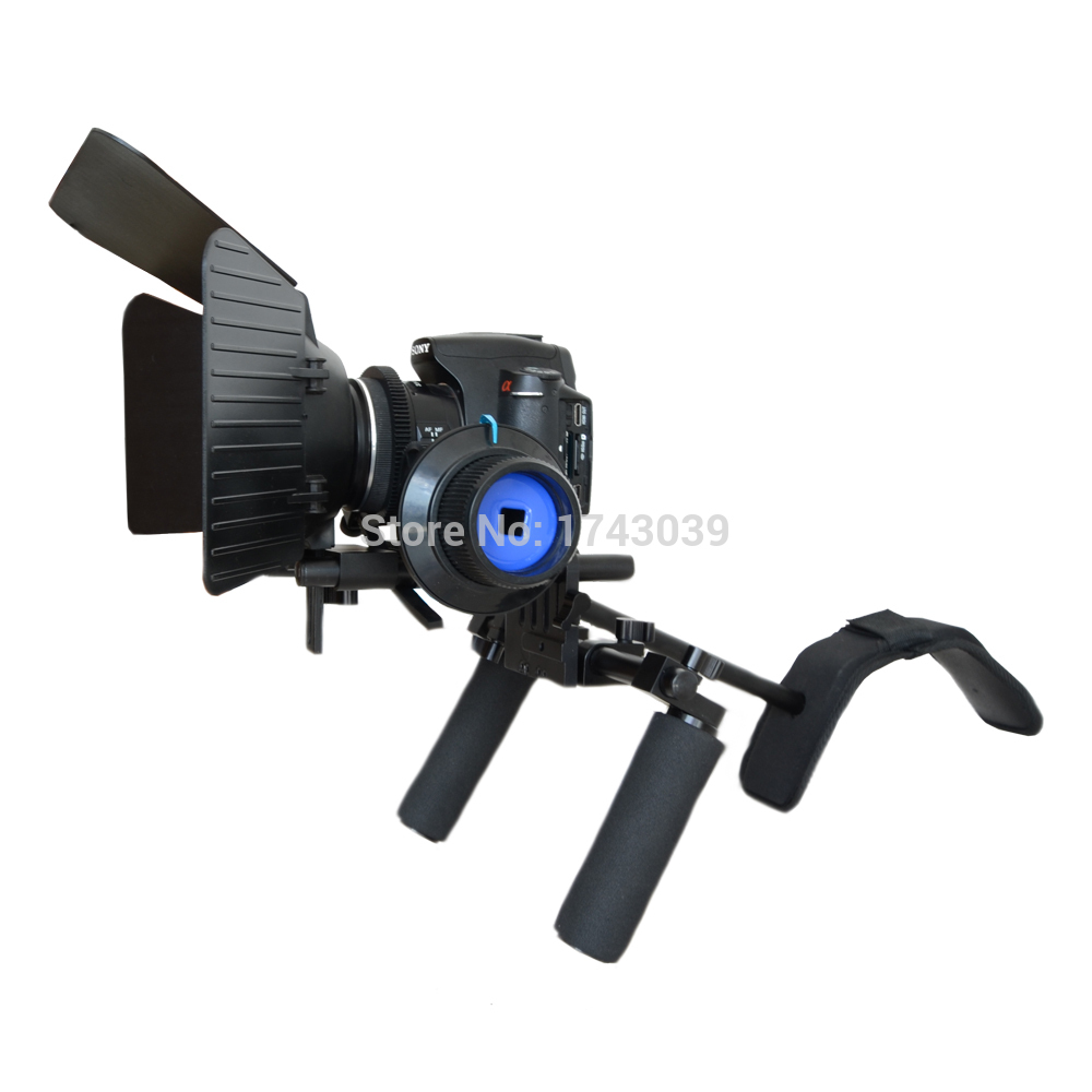 bilder für DSLR Rig Set Film Kit Film, der System, Schulter montieren folgen Fokus, Matte Box für DSLR Kameras Camcorder DSL-01