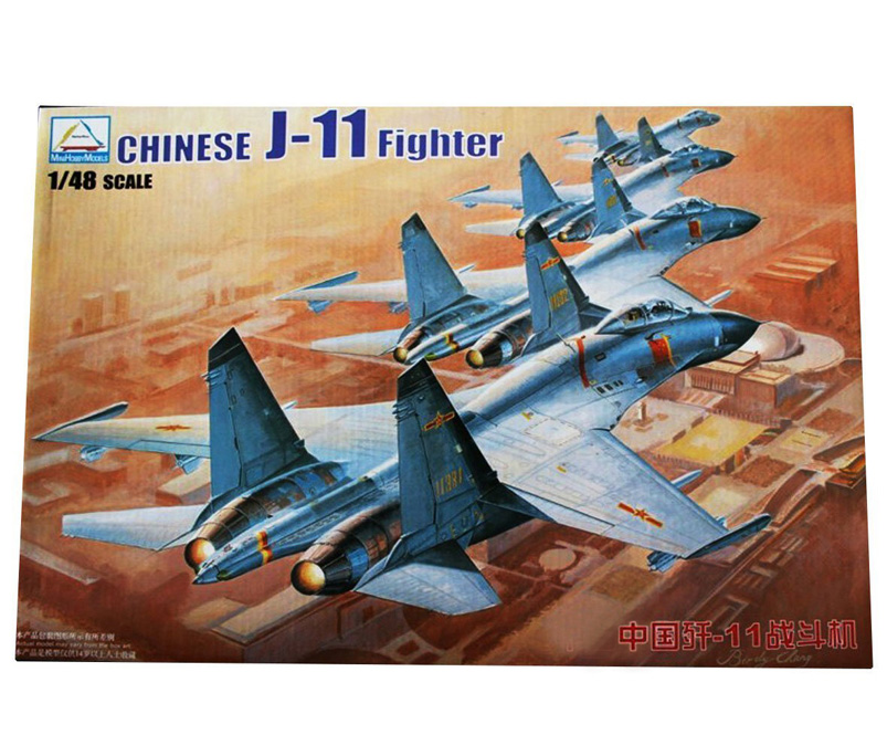 1:48 Chinses J-11 Fighter Military Assemble Aircraft Model Simulation 1/48 fighters Sue 27 Fighter Model 80398 1 144 soviet mig 25 fighter military aircraft assemble model 80412