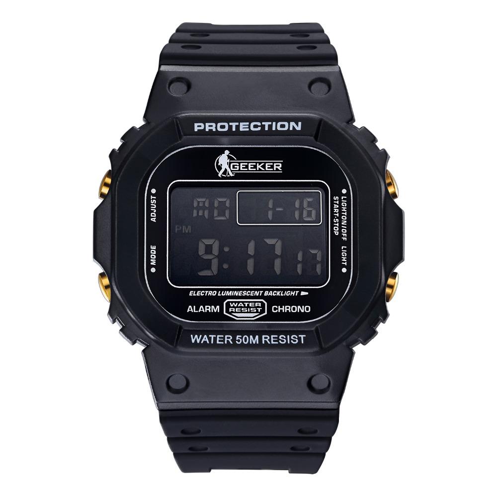 Prix pour Militaire montre Numérique 50 m Étanche En Plein Air montres Hommes Sport montre Avec la Boîte Originale