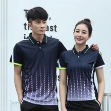Новая быстросохнущая футболка для бадминтона для мужчин/женщин, спортивная одежда для бадминтона, футболка для настольного тенниса, теннисные футболки, AY102