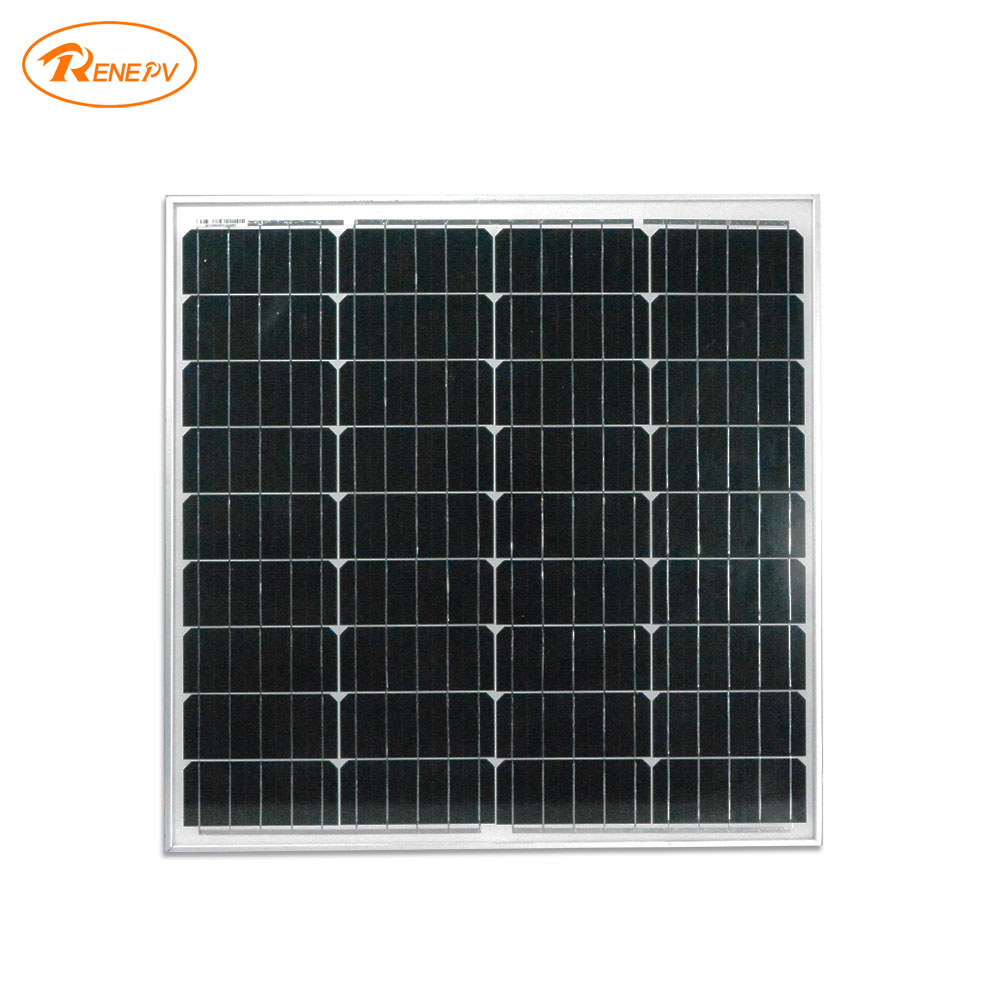 Renepv 60W monocrystalline Silicon Solar Panel 18V for 12V solar battery power charging off-grid solar module factory wholesale