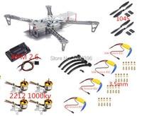 X500 Quadcopter FPV Quadcopter Quadro 500mm & Landing skids engrenagem 2212 1000KV Motor 30A Simonk ESC para