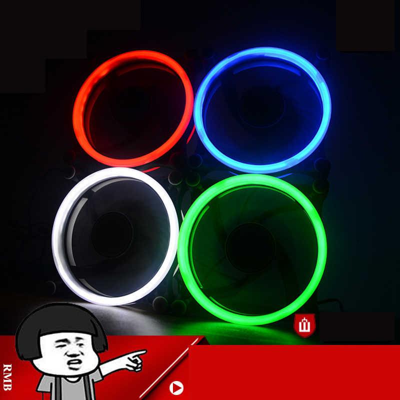 الكمبيوتر 120 ملليمتر أدى مروحة مروحة تبريد المياه المبردة 120 ملليمتر الوهج الأحمر الأزرق الأخضر الأبيض برودة مروحة