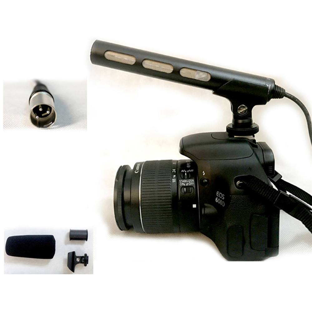 For SONY ECM-XM1 Sharp Camera Directivity Gun Microphone Professional DSLR Condenser Video Interview Microphone Spare Accessory image