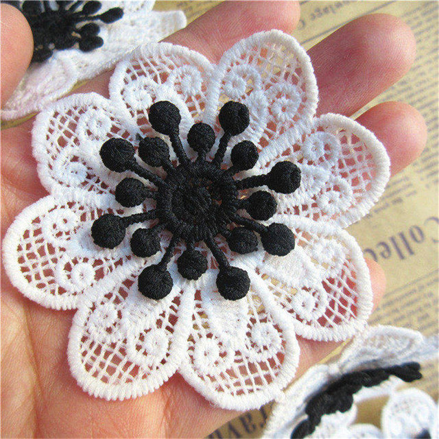 White milk silk tassel lace trim Embroidered Lace Fabric ribbon fringe lace  trimming Sewing Accessories 9cm