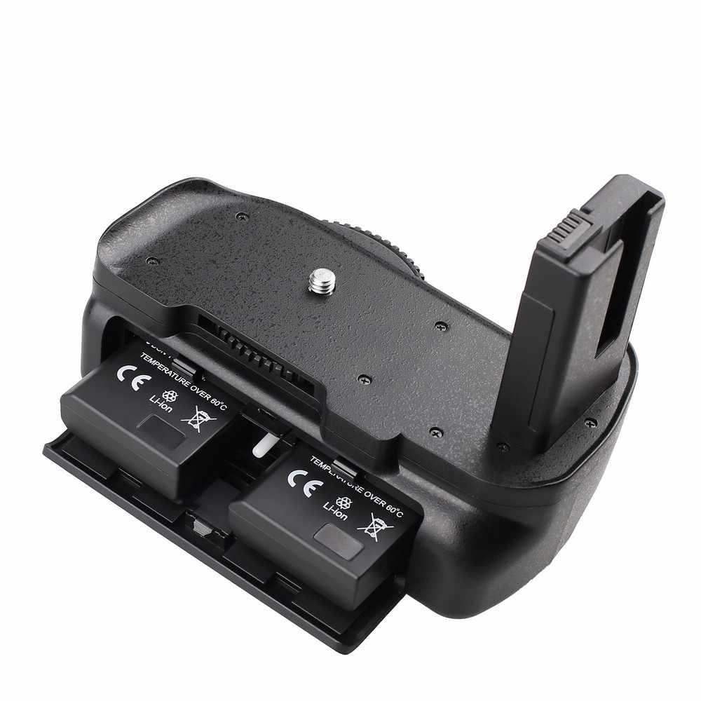 Travor uchwyt baterii uchwyt do aparatu Nikon D5100 D5200 D5300 lustrzanka cyfrowa + 2 sztuk EN-EL14 baterii + 2 sztuk ściereczka czyszcząca z mikrofibry