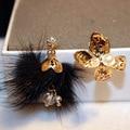 Хорошее качество женская Мода имитация жемчужные серьги Популярные асимметричный серьги позолоченные серьги
