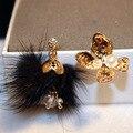 Buena calidad de La Moda femenina perla simulada pendientes Populares pendientes asimétricas pendientes chapados en Oro
