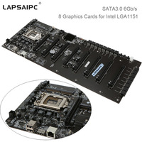 Lapsaipc 8 Graphics Cards Mining Motherboard C B250A BTC PLUS YV20 For Intel LGA1151 ETH BTC
