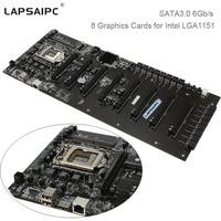 Lapsaipc 8 Graphics Cards Mining Motherboard C B250A BTC PLUS YV20 For Intel LGA1151 ETH BTC