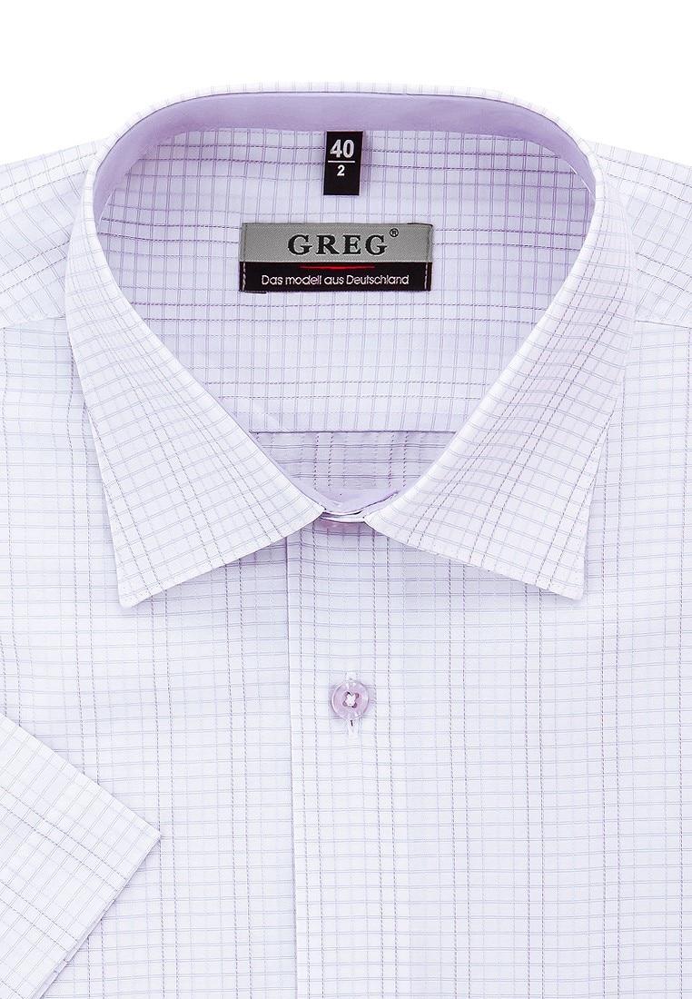 Shirt men's short sleeve GREG 175/309/760/Z/1 Lilac