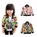 Spring Autumn Toddler Blazer Jacket Zipper Cardigan Cartoon Printed Girl Jacket Toddler Coat Kids Baseball Jackets Kids Outwear