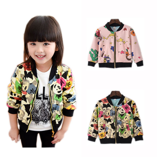 e6bd77e29 Spring Autumn Toddler Blazer Jacket Zipper Cardigan Cartoon Printed ...