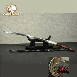 Новый katana Самурай японский меч Самурай wakizashi 1060 углерода Хамон лезвие стали палка, нож из металла Катана Полный Тан sharp Лидер продаж