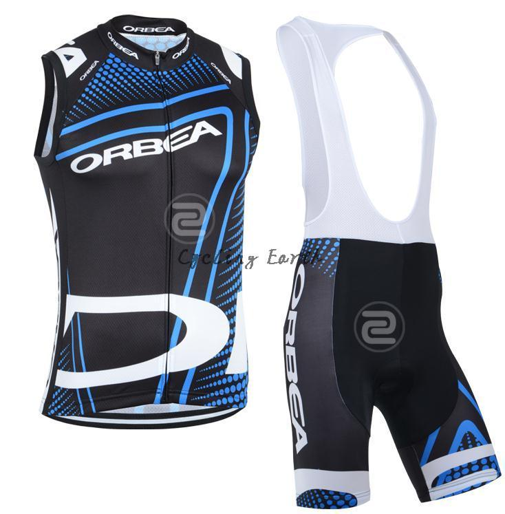 Quick-dry! Orbea sleeveless cycling vest bib shorts set bike bicycle wear clothes gilet pants,gel pad