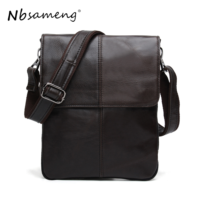 NBSAMENG Genuine Leather Men Bag Cowhide Leather Shoulder Bag Fashion Men Crossbody Messenger Bags Casual Male Small Bags Flap neweekend genuine leather bag men bags shoulder crossbody bags messenger small flap casual handbags male leather bag new 5867