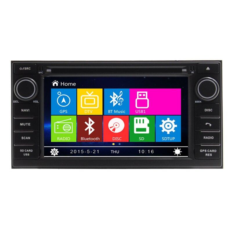 Lecteur DVD de voiture 7 pouces Navigation GPS pour Nissan NV200 Evalia Livina Geniss 2013 avec commande au volant RDS Ipod Bluetooth