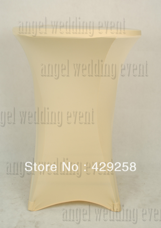 Nice Cocktail Stand Poseur Cream Spandex Lycra Tablecloth 80cm Diameter