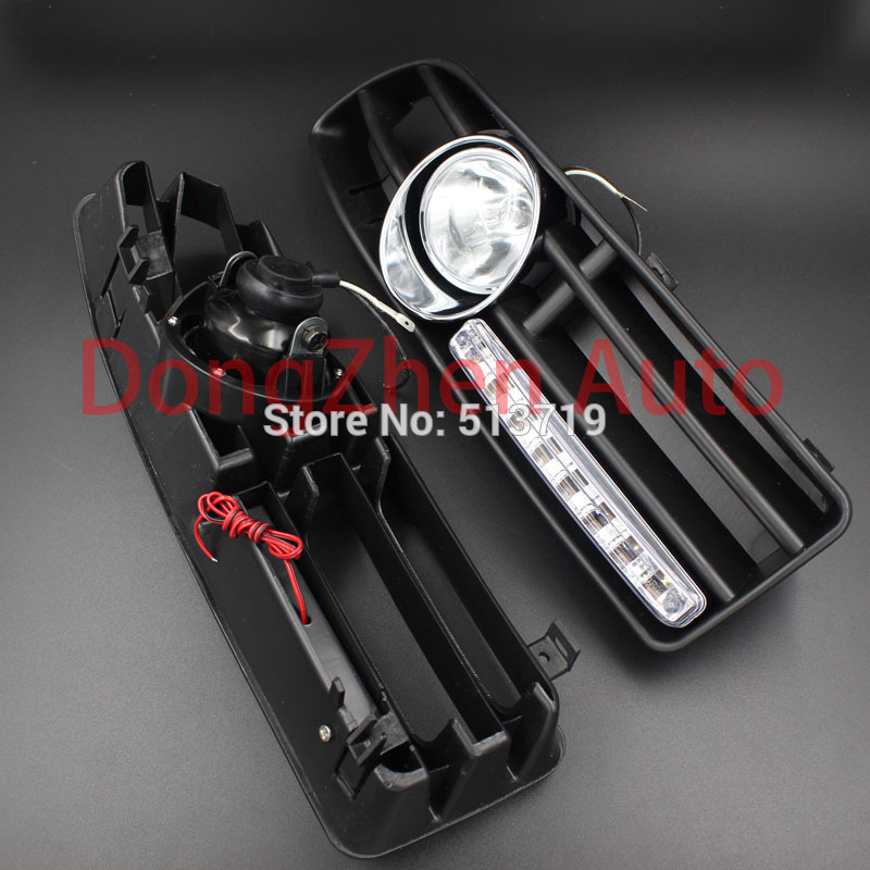 Free shipping For 99 04 VW JETTA BORA MK4 FOG LIGHT 8 LED DAYTIME RUNNING LIGHT