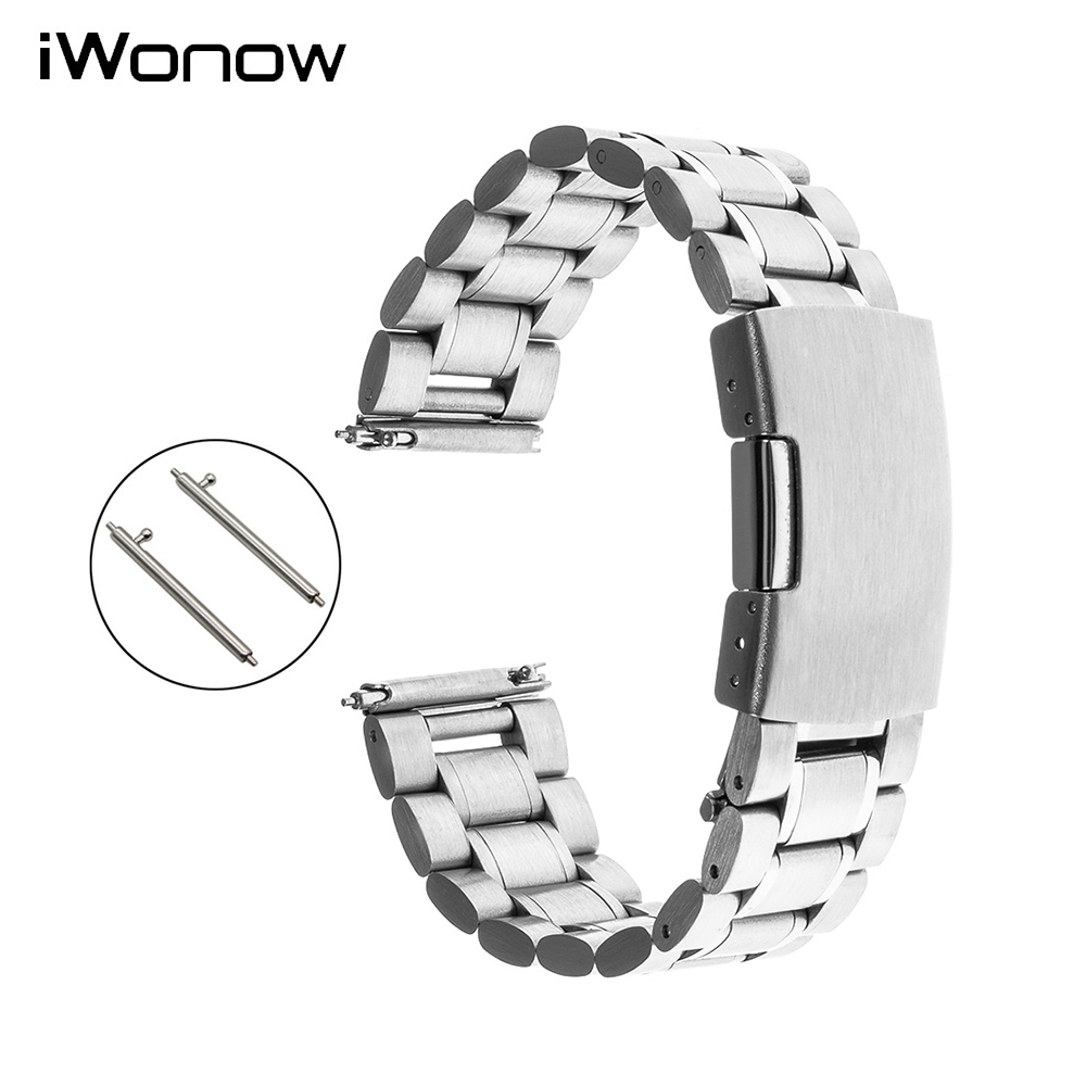 Quick Release Stainless Steel Strap for Gear S2 Classic R732 R735 Moto 360 2 42mm Men Pebble Time Round 20mm Wrist Band Bracelet teka hs 735 stainless steel