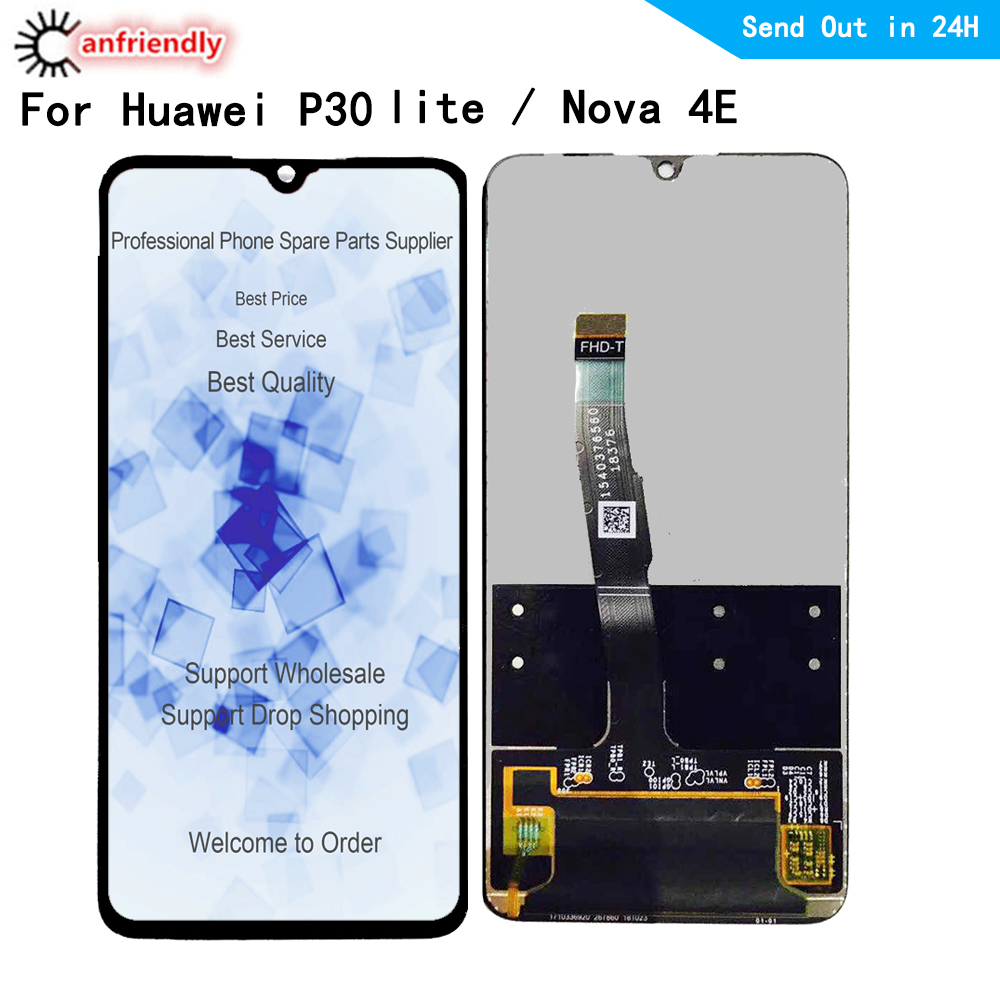 For Huawei <font><b>P30</b></font> lite Nova 4E MAR-L01A L21A LX1A LX1M LX2 L21MEA L22A L22B LX3A <font><b>LCD</b></font> Display Touch panel Screen Digitizer Assembly image