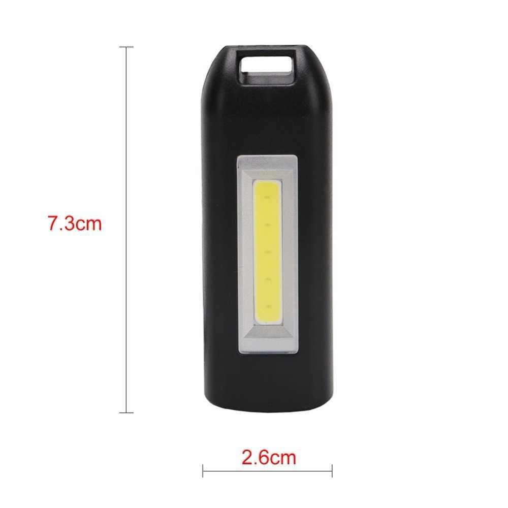 المحمولة LED USB قابلة للشحن مصباح يدوي الشعلة سلسلة مفاتيح صغيرة متعددة الوظائف COB مصباح صغير في الهواء الطلق التخييم مصباح