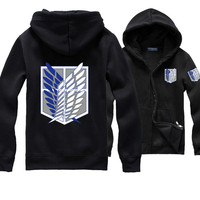 Anime Attack On Titan Hoodie Shingeki No Kyojin Hoodie The Survey Corps Eren Cosplay Green Coat
