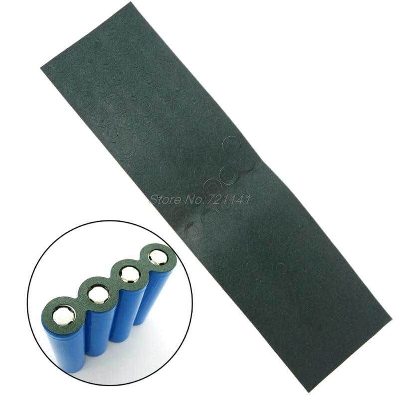 100 pièces 1S 18650 Li-ion batterie isolation joint orge papier batterie Pack cellule isolant colle Patch électrode tampons isolés