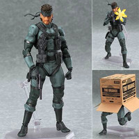 Figma #243 Metal Gear David SOLID SNAKE Legendary Mercenary PVC Action Figure Collection Model Toy G2162