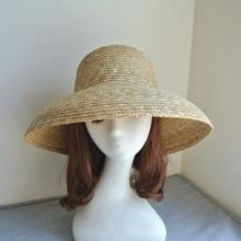 01908-shi  summer handmade straw Elegant Hepburn Style sun cap women leisure holiday beach hat