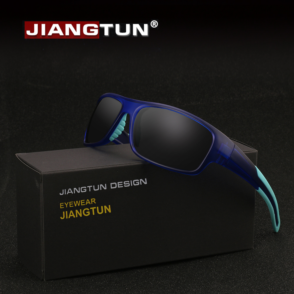 JIANGTUN Polarized Sunglasses Men Tr90 Frame Brand Designer Vintage Male Google Eyewear Oculos De Sol Zonnebril