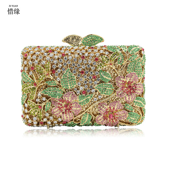 XIYUAN BRAND chinese high quality and luxurious ladies crystal diamond evening bags clutches for party wedding gifts for womenXIYUAN BRAND chinese high quality and luxurious ladies crystal diamond evening bags clutches for party wedding gifts for women