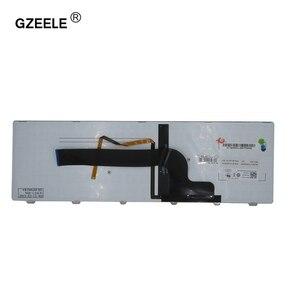 """Image 3 - חדש אנגלית עבור Dell Inspiron 15 7537 7000 P36F מחשב נייד מקלדת עם תאורה אחורית כסף 15 7000 סדרת ארה""""ב מקלדת"""