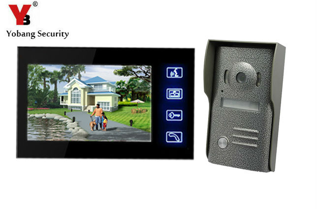 Yobang Security Wired Touch Key Home Security Video Door Phone Intercom Doorbell Camera With 7lcd Monitor VideoporteroYobang Security Wired Touch Key Home Security Video Door Phone Intercom Doorbell Camera With 7lcd Monitor Videoportero