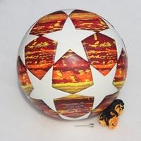 Red Madrid 19 Final Balls 2019 finals Soccer Ball Size 5 Match football ball PU high grade seamless paste skin