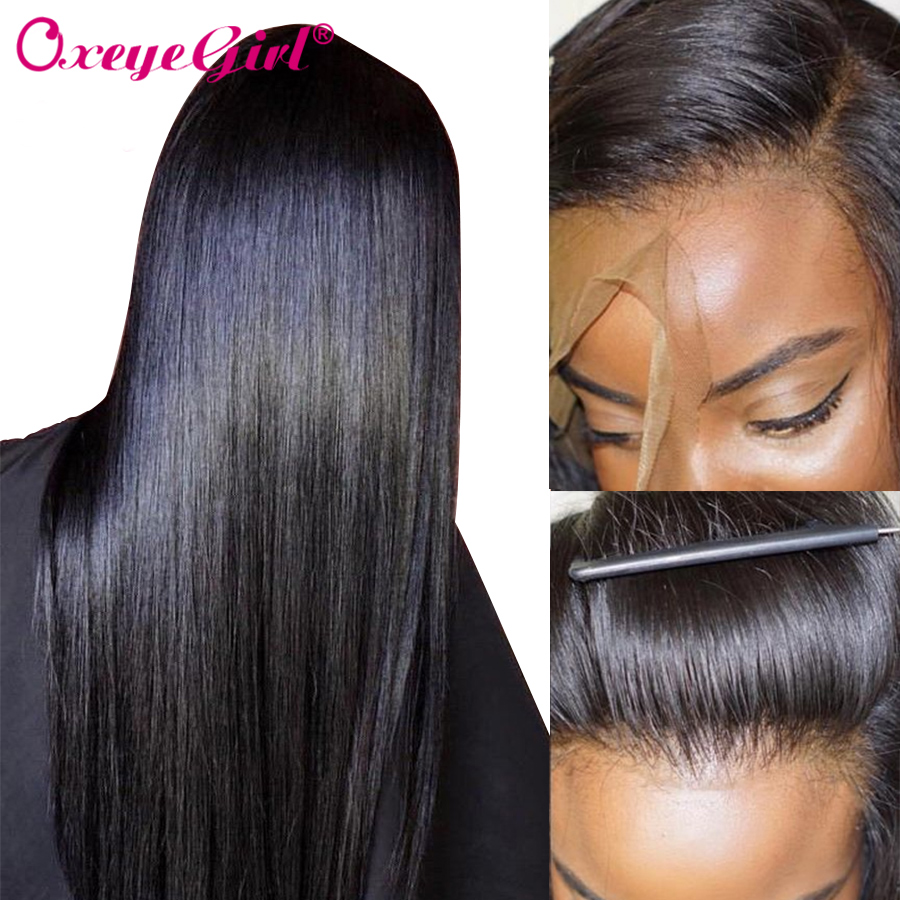 360 Lace Wig Straight Lace Frontal Wig Pre Plucked With Baby Hair Remy Brazilian Wig Lace