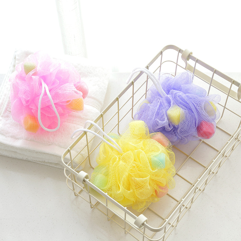 1PC Body Flower Bath Flower Sponge Solid Bath Balls Rich Bubbles Shower Brush Body Wash Shower Scrubber Mesh Soft Puff Cleaner in Bath Brushes Sponges Scrubbers from Home Garden