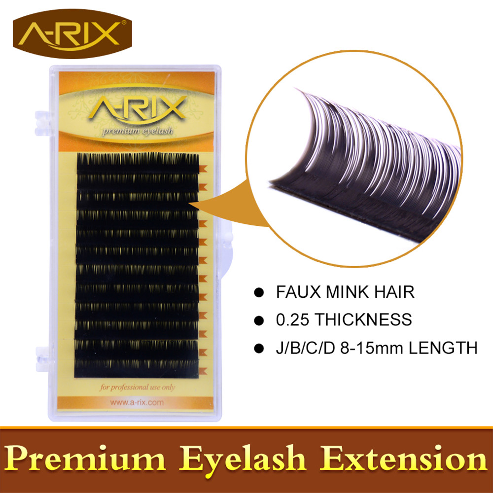 Wholesale 1 pack Eyelash Extension All Size 8-15mm length 0.25 False Mink Hair Individual Silk Lash