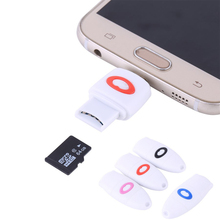 1 Piece Micro SD TF Card Reader For Samsung HTC Huawei Xiaomi Oneplus Smartphone Android Micro USB to USB OTG Adapter Converter