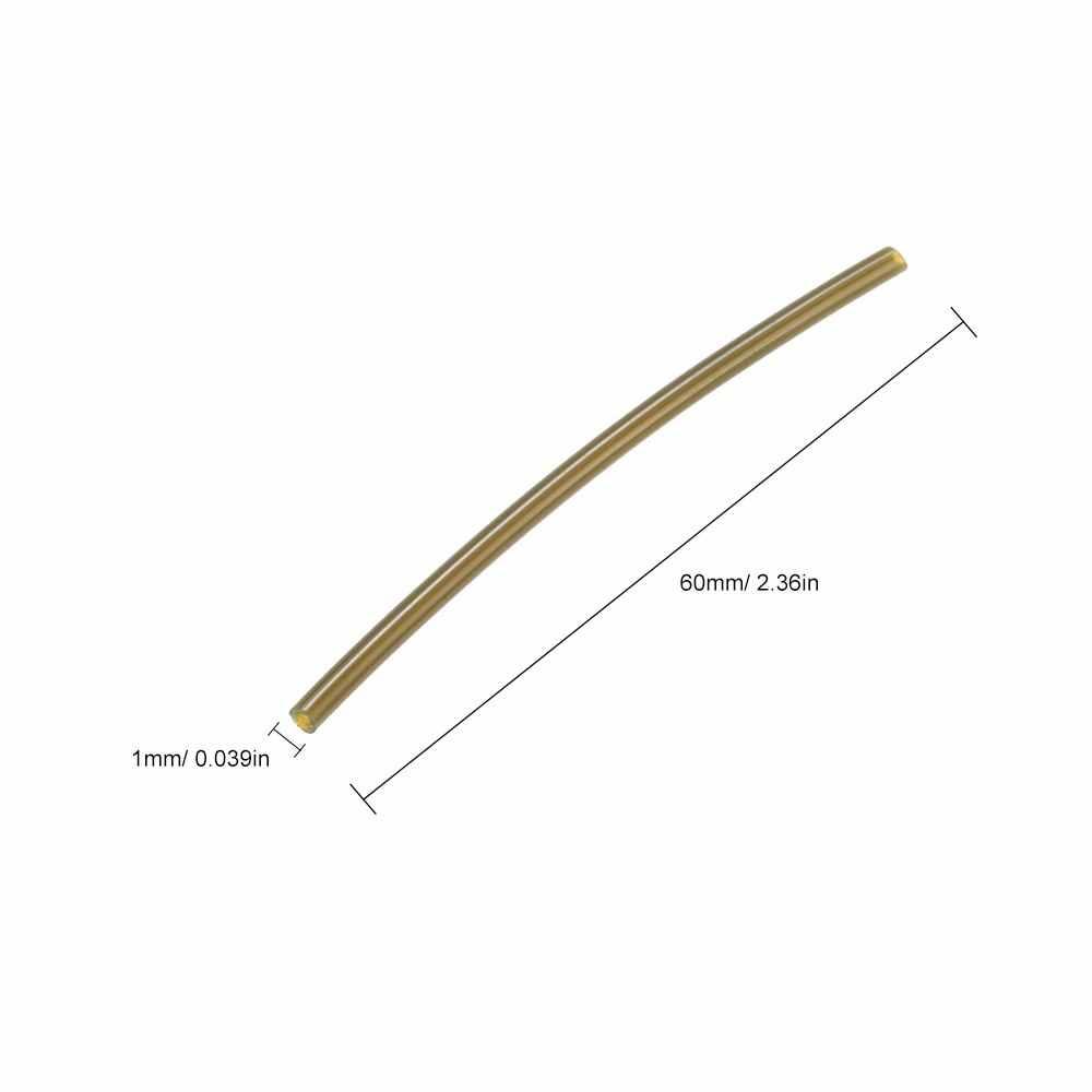 100 個 6 センチメートル * 1 ミリメートル熱暖房収縮チューブチューブ釣りゴムチューブ小さなホースパイプ鯉釣りアクセサリー