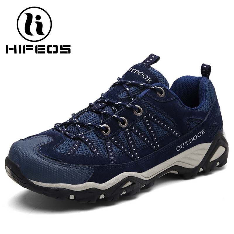 HIFEOS men winter outdoor hiking shoes couple anti-slip breathable boots mesh couple climbing mountaineer low-top sneakers M067 hifeos outdoor hiking shoes anti slip boots lace invisible increased men s shoes comfortable breathable sneakers climing m065