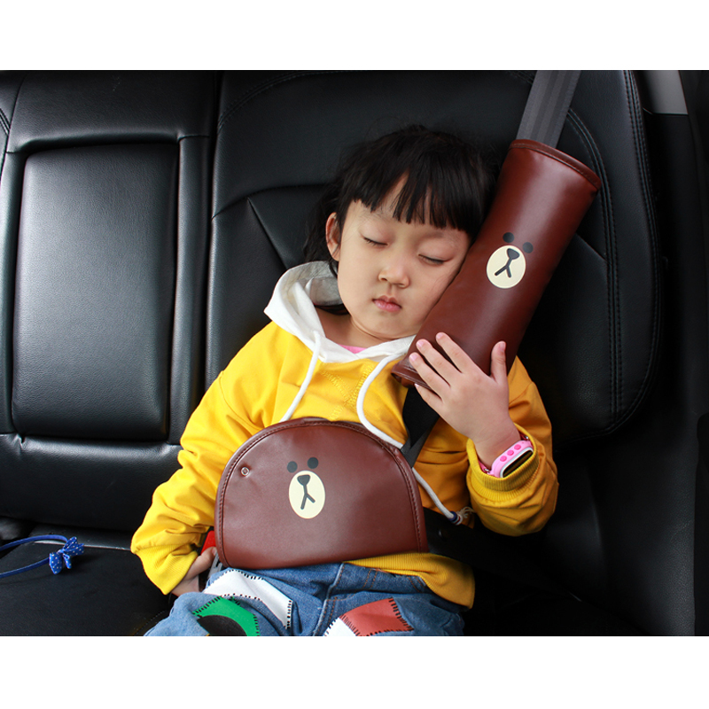 1pcs Seatbelt Pillow with Kids Seatbelt Cartoon Adjust Vehicle Shoulder Pads Child Seat Belt Safter Covers for Children Baby
