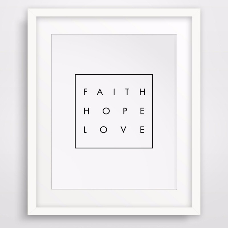 Inspirational Quotes About Faith And Love Unique Hot Inspirational Quote Faith Hope Love Christian Digital Wall